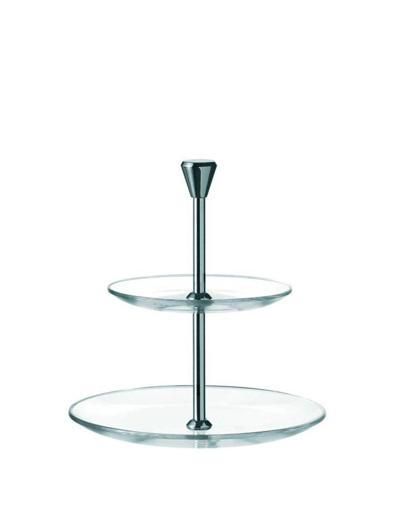 Leonardo 2 Tier Cake Plate Dinner - 020544