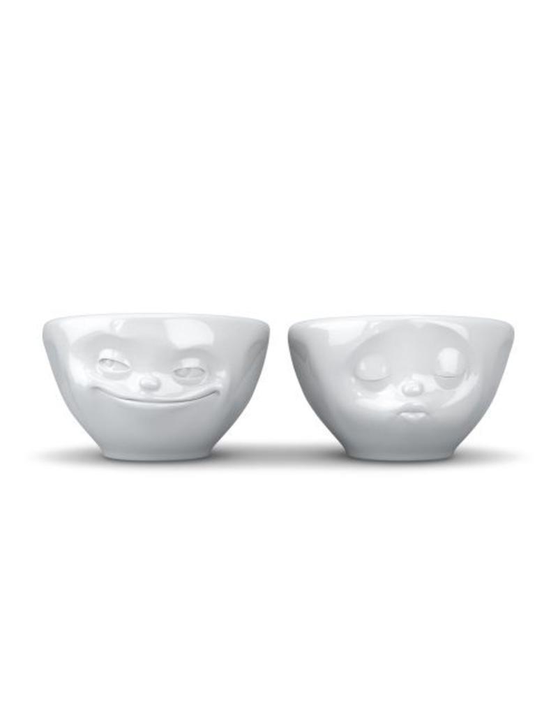 """Tassen Servies Small Bowl Set """"Kiss&Grinn"""" - T01.21.01"""