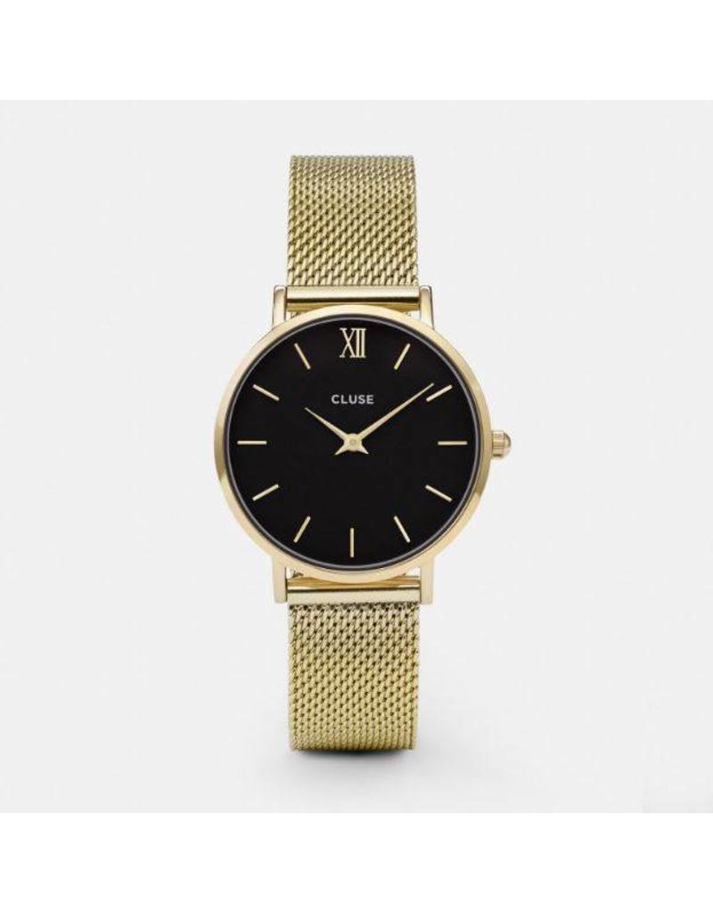 Cluse Minuit Mesh Gold/Black - CL30012