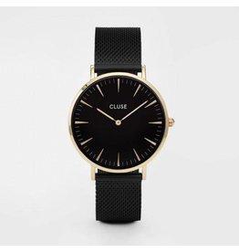 Cluse La Boheme Mesh Gold Black/Black - CL18117
