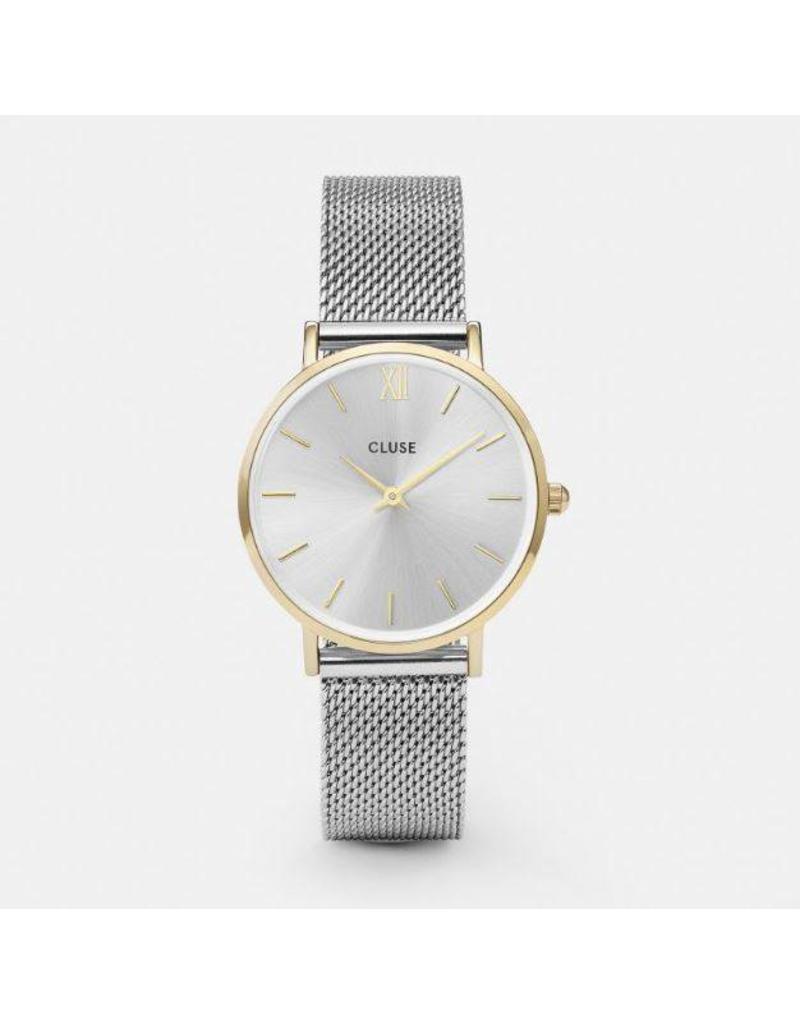 Cluse Minuit Mesh Gold/Silver - CL30024
