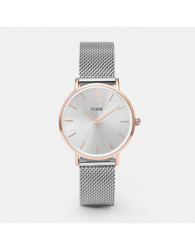 Cluse Minuit Mesh Rose Gold/Silver - CL30025