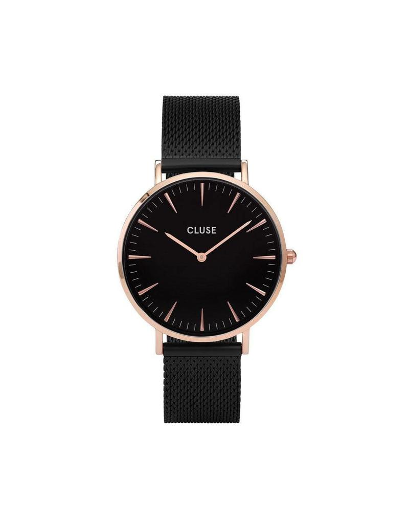Cluse La Boheme Mesh Rose Gold Black/Black - CL18034