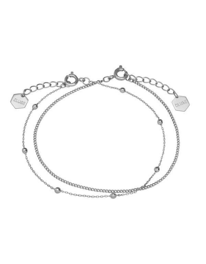 Cluse Essentielle Silver Set Of Two Bracelets - CLJ12010