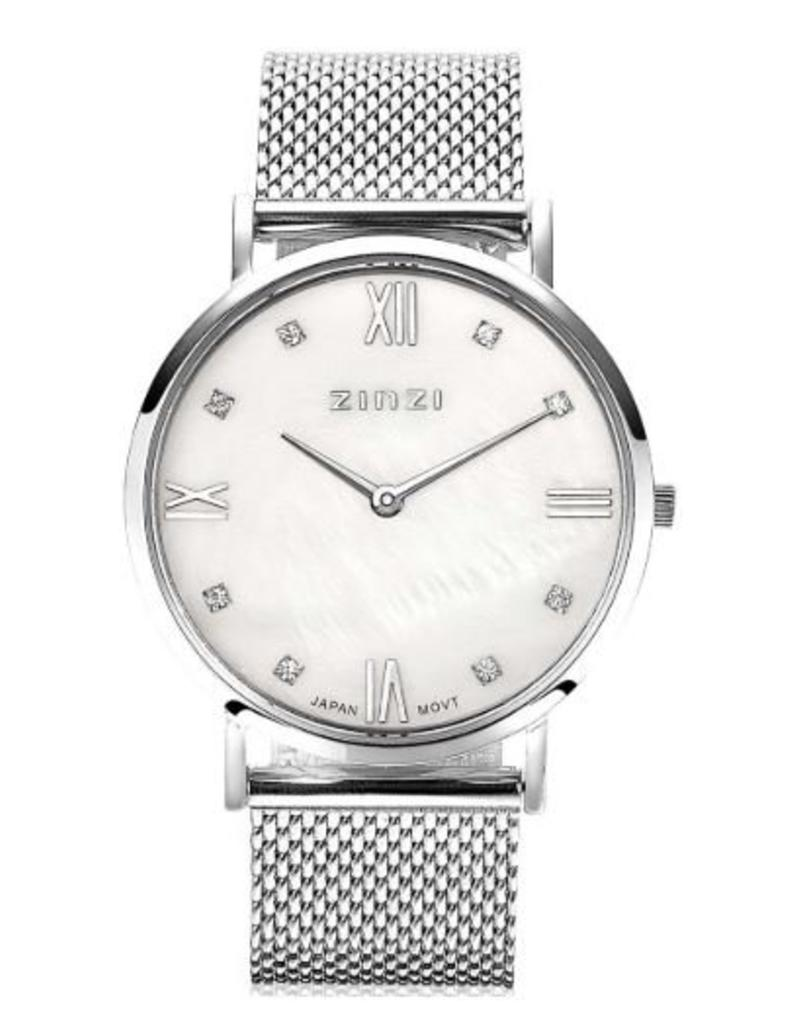 Zinzi horloges Roman Horloge Witte Parelmoer Wijzerplaat - ZIW521M