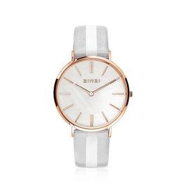 Zinzi horloges Retro Horloge Rosé MOP Wit - ZIW418GS