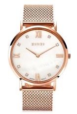 Zinzi horloges Roman Horloge Rose Witte Parelmoer Wijzerplaat - ZIW522M