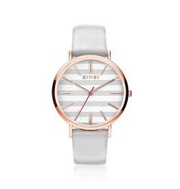 Zinzi horloges Retro Horloge Rosé Witte Wijzerplaat - ZIW420LG