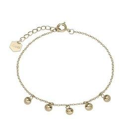 Cluse Essentielle Gold Orbs Chain Bracelet CLJ11011 - CLJ11011
