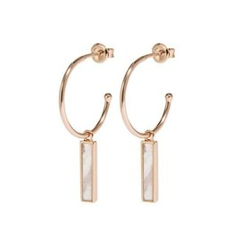 Cluse Idylle Rose Gold Marble Bar Hoop Earrings CLJ50001 - CLJ50001