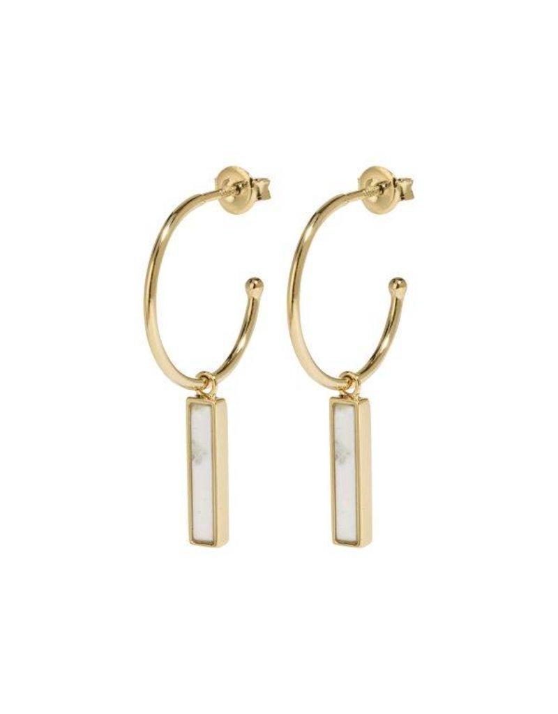Cluse Idylle Gold Marble Bar Hoop Earrings CLJ51001 - CLJ51001