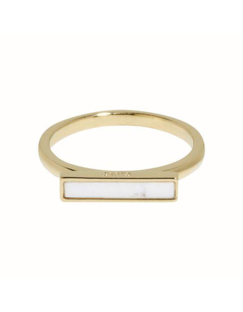 Cluse Idylle Gold Marble Bar Ring 52 CLJ41002-52 - CLJ41002-52