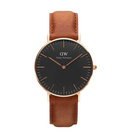 Daniel Wellington Daniel Wellington Watch Black Durham 36mm Rose gold DW00100138 - DW00100138