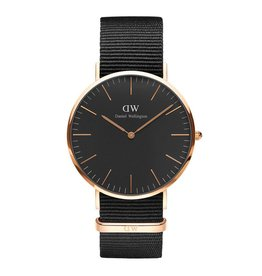 Daniel Wellington Daniel Wellington Watch Black Cornwall 40mm Rose gold DW00100148 - DW00100148