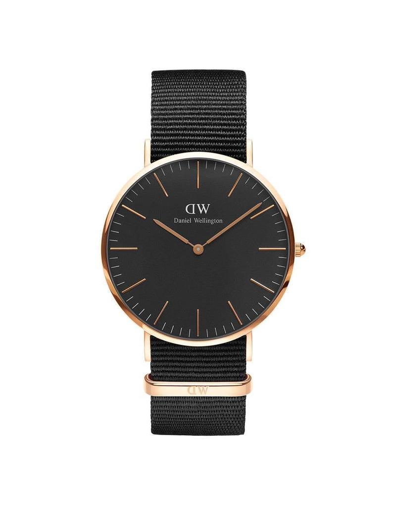 Daniel Wellington Daniel WellingtonWatch Black Cornwall 40mm Rose gold DW00100148 - DW00100148