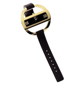 Davis Caroll Watch Gold Black - 1205