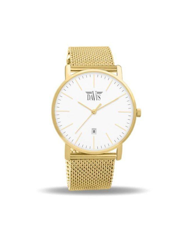 Davis Charles Watch Gold - 2044