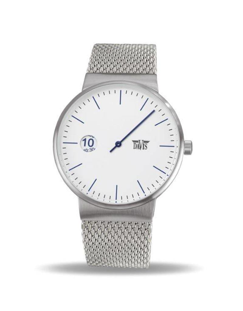 Davis Center Watch White Mesh - 2101