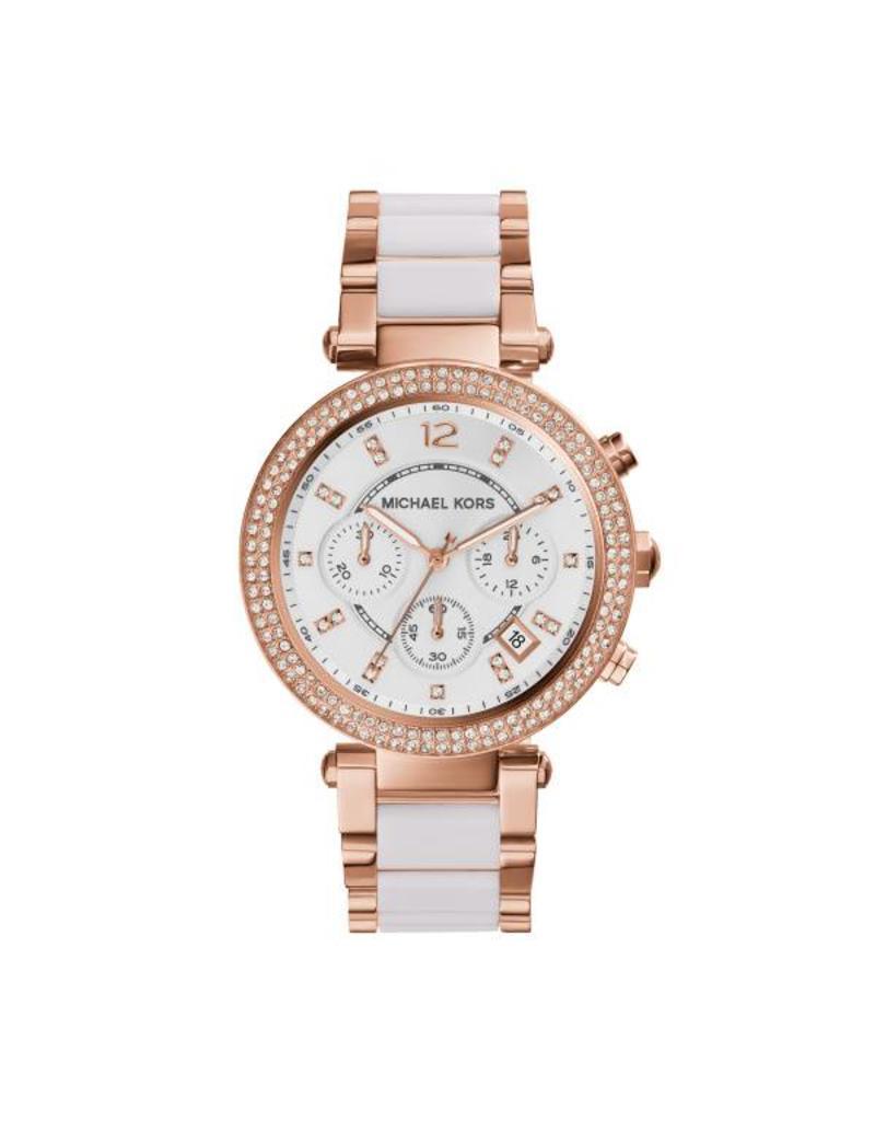 Michael Kors Horloges rd rose wht brc - MK5774***