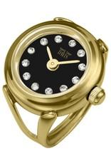 Davis Sofia Ringwatch Black GP Stone - 4175