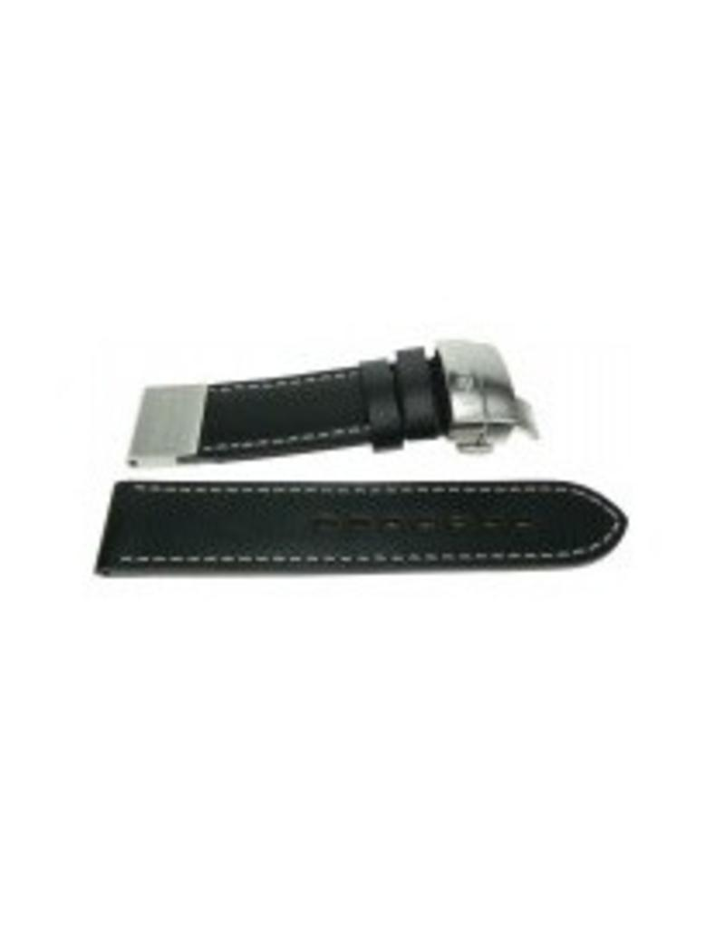 U-Boat U-Boat Strap Solid Black Leater 24mm - 2012