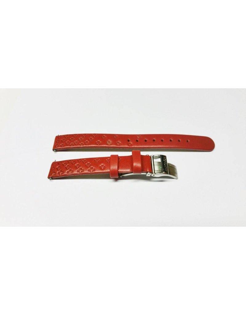 12mm- Rood Leer Special- Vouwsluiting - BM20088