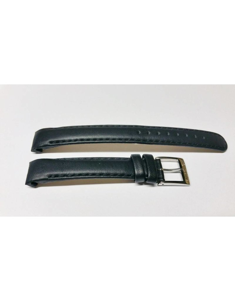 Mondaine 14mm- Zwart XL- Stiksel- Gesp Glans - BM20014