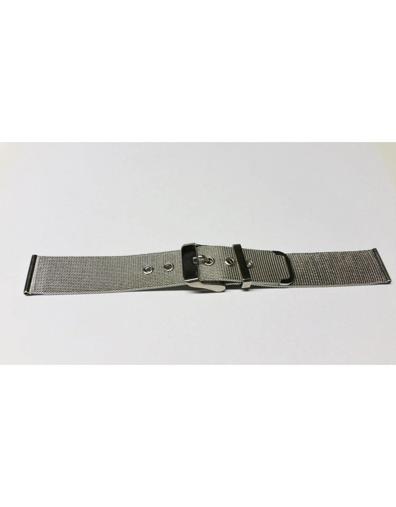 Mondaine 14mm- Staal Milanees- Gesp Glans - BM14mg