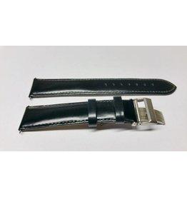 Mondaine 18mm- Zwart Leer- Vouwsluiting Mat - BM20050