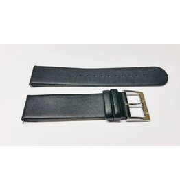 Mondaine 20mm Zwart Leer Gesp Glans - BM20001