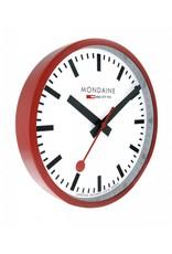 Mondaine Railways Wandklok 25cm Rood/Wit - M990.CLOCK.11SBC