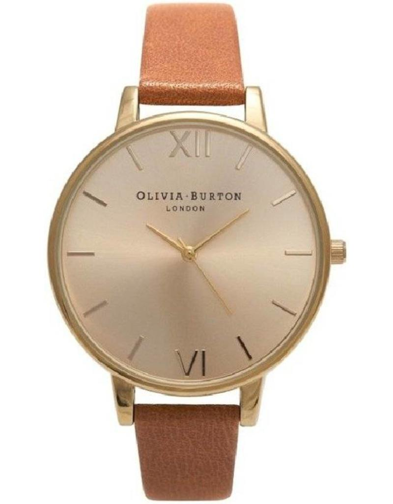Olivia Burton Big Dial Tan & Gold - OB13BD09
