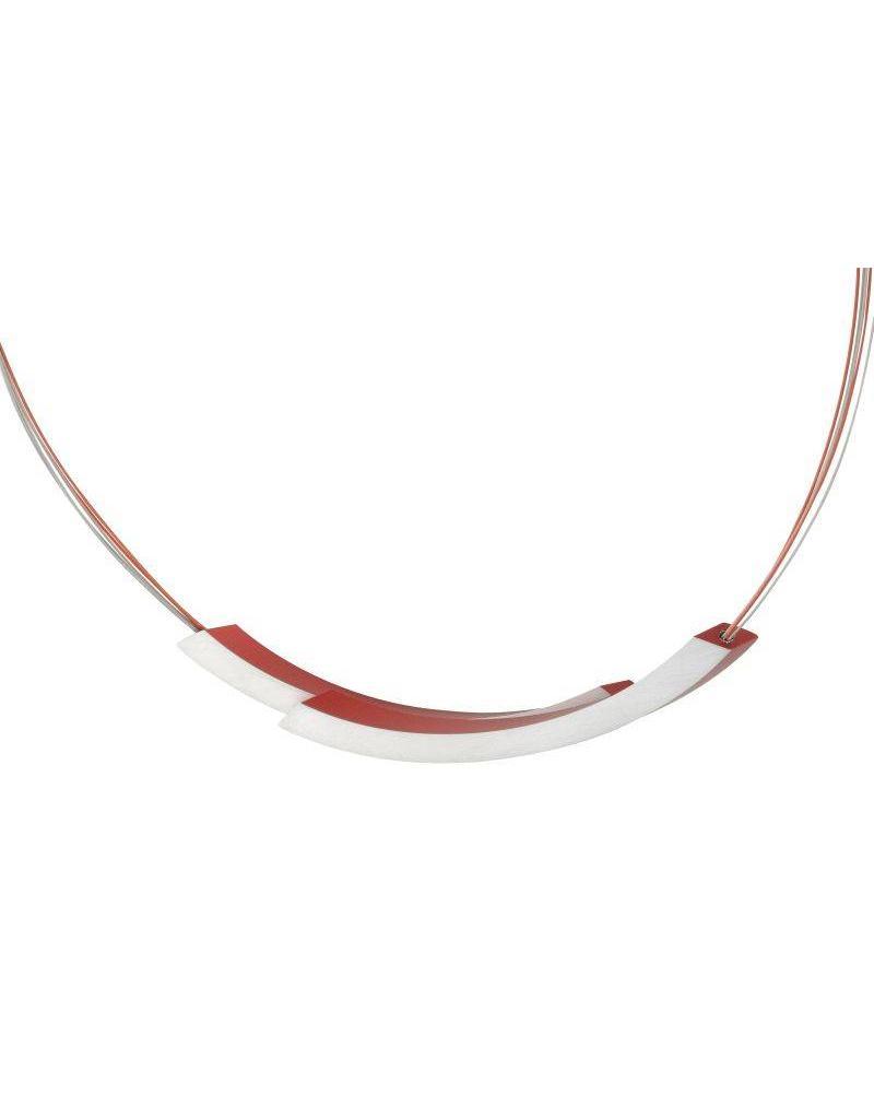 Clic Aluminium Necklace Red - C74R