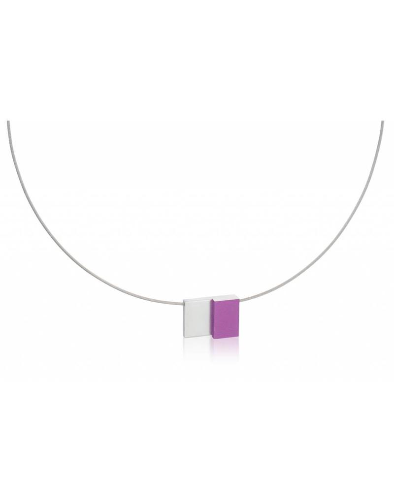 Clic Necklace Purple - C151P