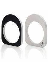 Clic Aluminium Ring Oval Black/Matte - R256.2Z
