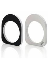 Clic Aluminium Ring Oval Black/Matte - R254.2Z