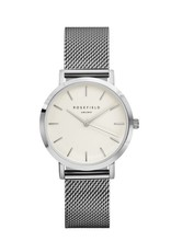 Rosefield The Tribeca White Silver - TWS-T52