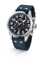 TW Steel Volante 48MM, Dual Time, Date, Black Dial, Blue Detail - VS38