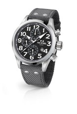 TW Steel Volante 48MM Steel, Chrono, Date, Black Dial, Gey Details - VS14