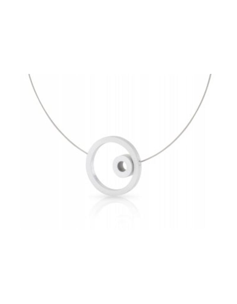 Clic Aluminium Necklace Matte  - C181