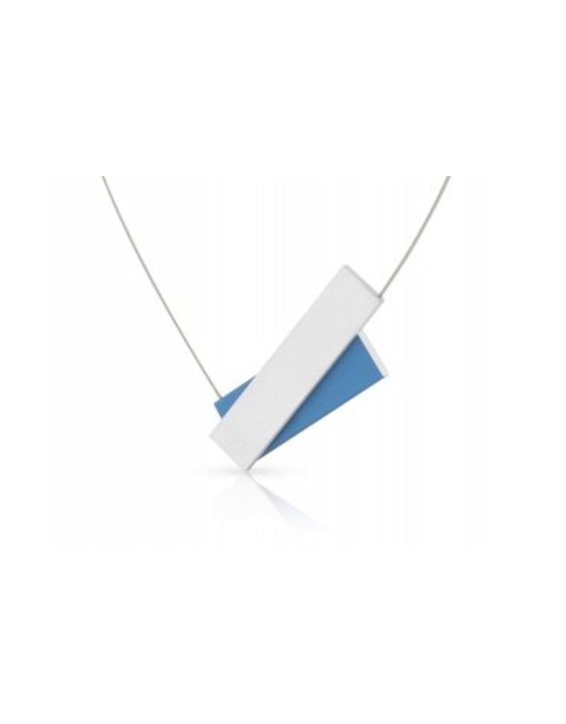 Clic Aluminium Necklace Blue Matte - C183B