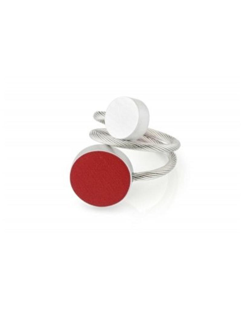 Clic Aluminium Ring Red/Matte - R5R