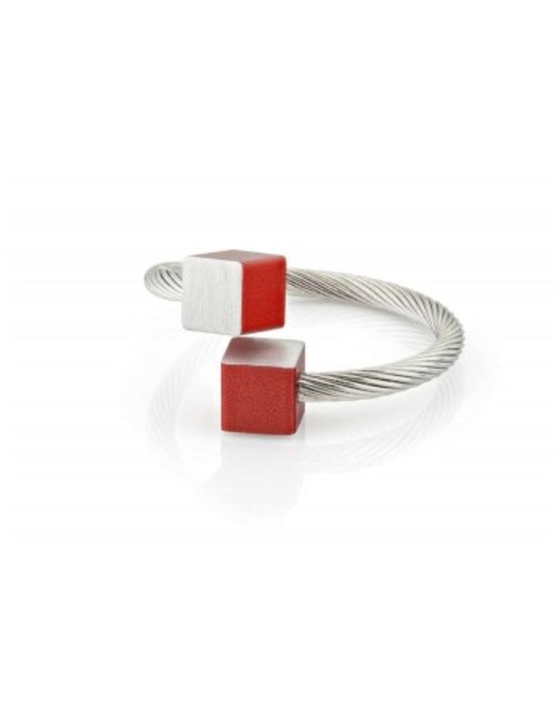 Clic Aluminium Ring Red/Matte - R4R