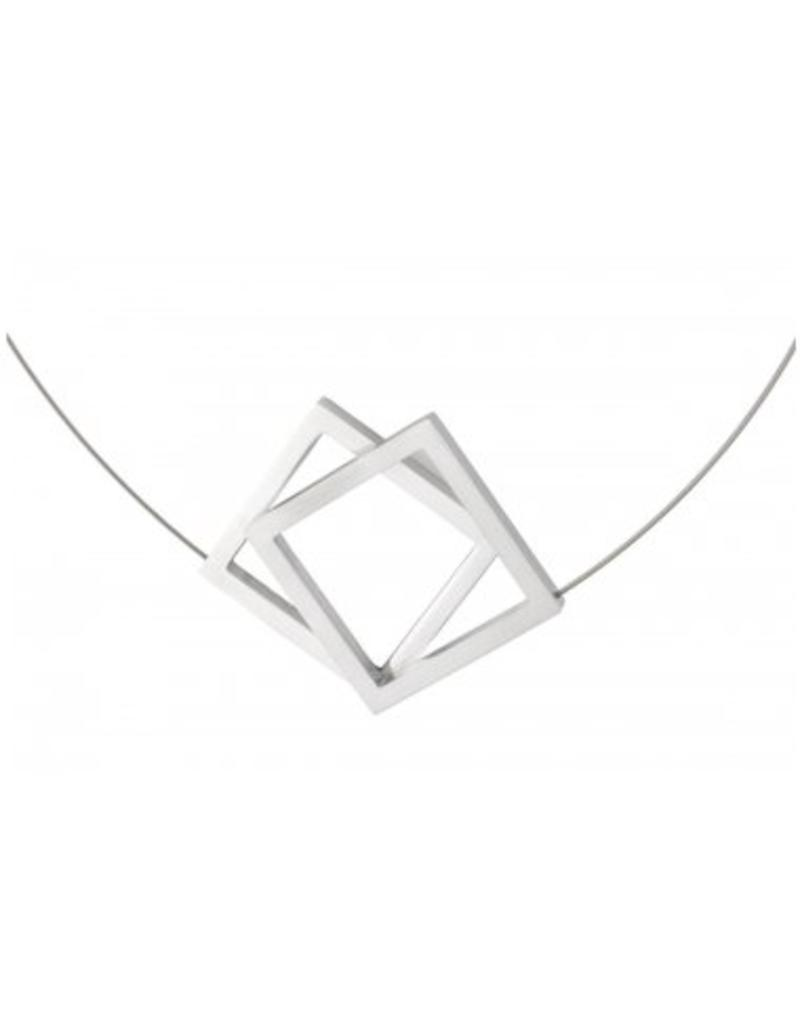 Clic Aluminium Necklace Matte/Polish - C104