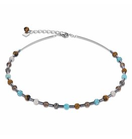 Coeur de Lion Necklace Turquoise-Brown - 4901/10-0611
