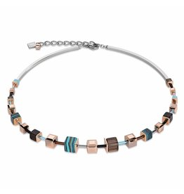 Coeur de Lion Necklace Turquoise-Brown - 4881/10-0611