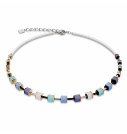 Coeur de Lion Necklace Blue Aqua - 4909/10-0737
