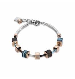 Coeur de Lion Bracelet Turquoise Brown - 4881/30-0611