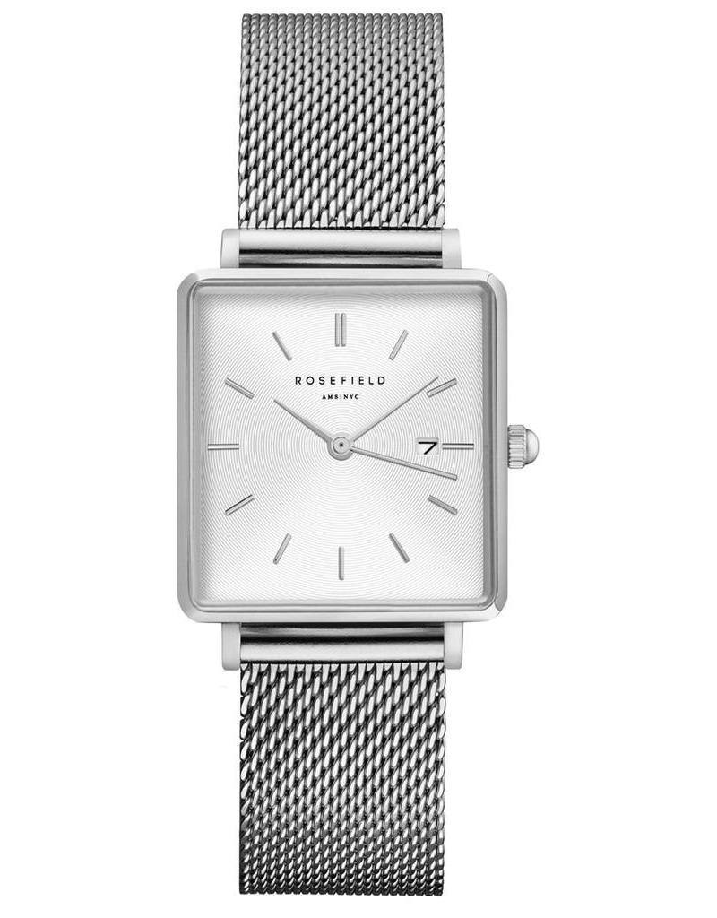 Rosefield The Boxy White Sunray Mesh Silver - QWSS-Q02