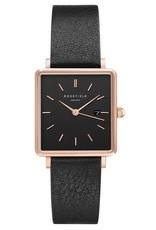 Rosefield The Boxy Black Black Rosegold - QBBR-Q10